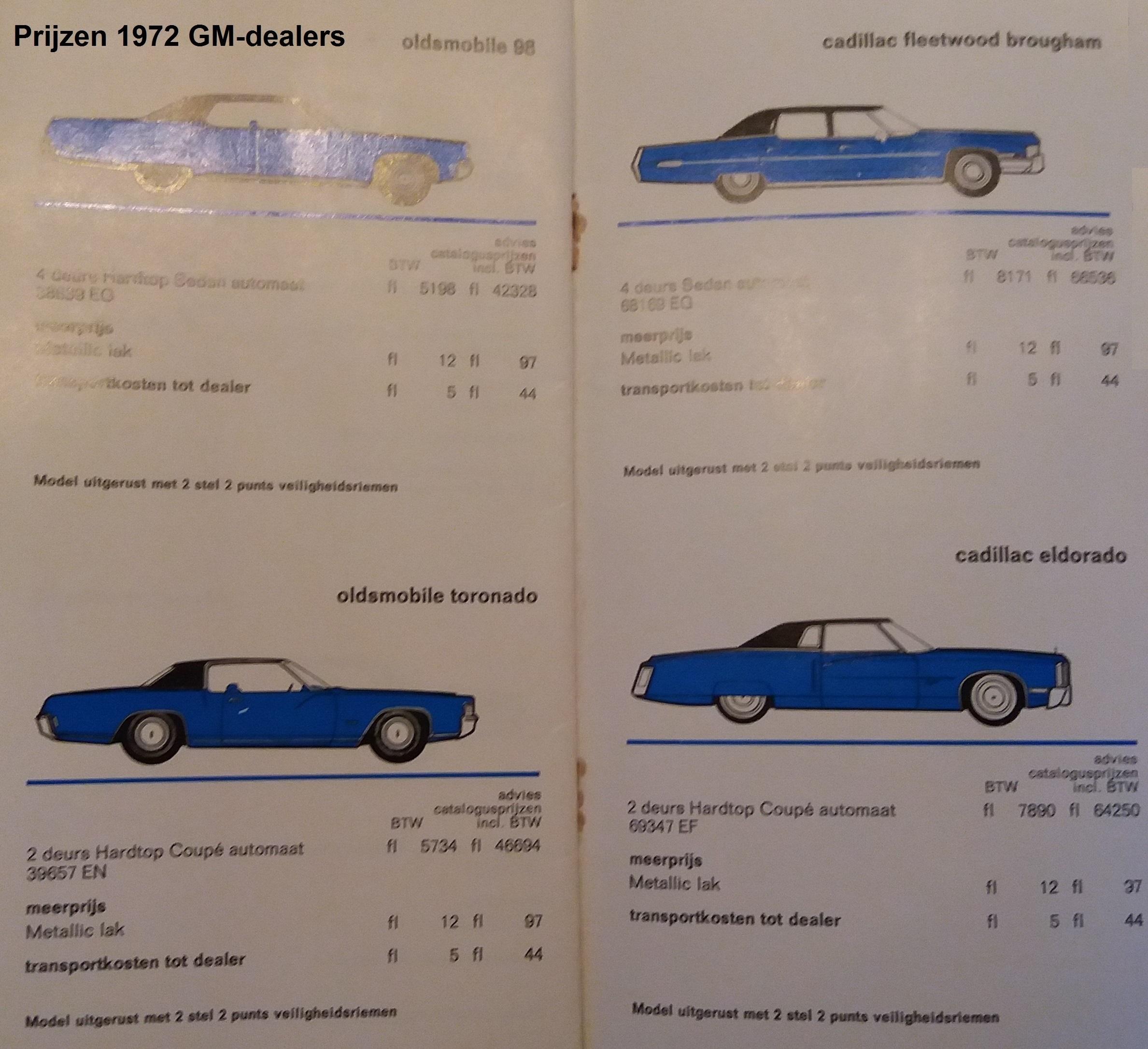 Prijzen 1972