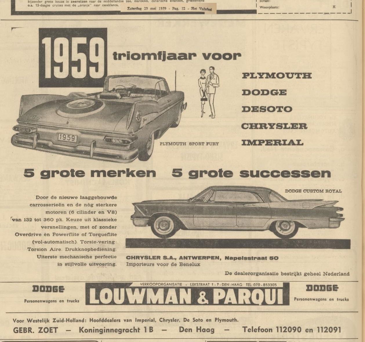 1959 23 mei Vaderland