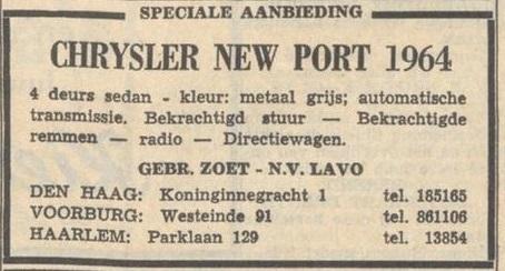 1965 Nieuwsblad van het Noorden 15 maart